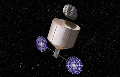 Atraer un asteroide hasta la órbita luna. KISS
