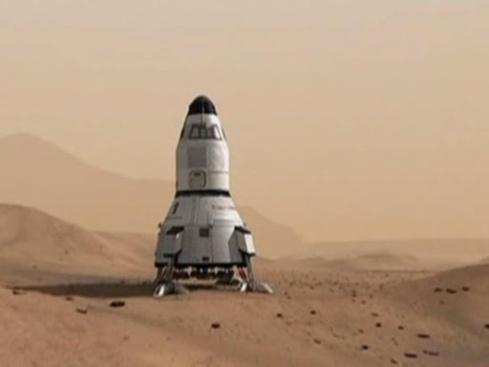 Nave de una posible misión tripulada a Marte - Robert Zubrin