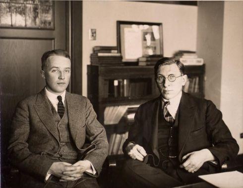 Banting y Best. Conmemoramos 90 años del lanzamiento de la insulina que ellos aislaron (Wikipedia commons).