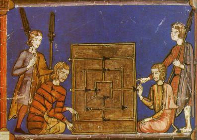 Una ilustración del siglo XIII en el Libro de los juegos, de Alfonso X, El Sabio.